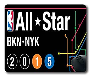 custom and diy 2015 NBA All Star logo NYK square mouse pads , office mousepads