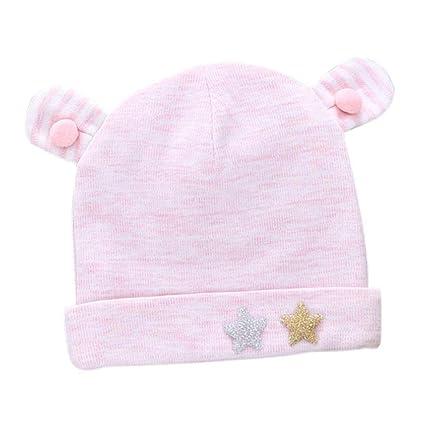 Cappello in cotone per neonato Cappello in cotone per autunno e inverno Cappello  lavorato a maglia 9c273e628390