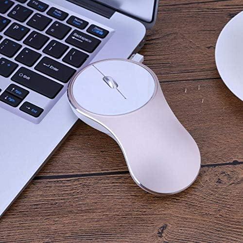 PrinceShop 2.4GHz Wireless Mouse Aluminum Alloy Case Mini Portable Computer Mice 1600DPI Rechargeable Game Mouse for PC Desktop Laptop