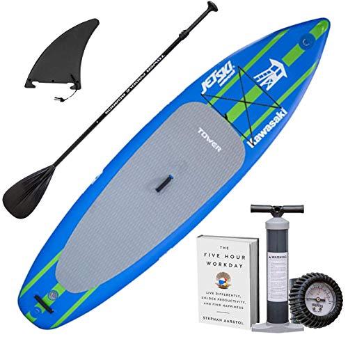 Inflatable Watercraft - Tower Kawasaki Watercraft Edition Inflatable Paddle Board - Blue/Green