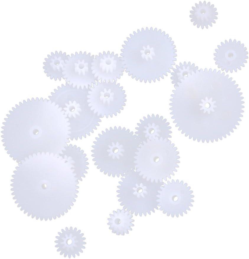 19 Tyle De Plástico Engranajes Helicoidales Ruedas Dentadas Bricolaje Corona De Bricolaje Robot Para Niños