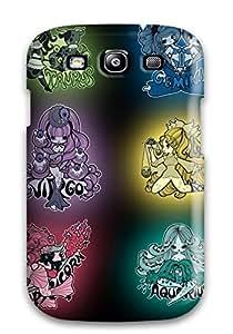 Snap-on Case Designed For Galaxy S3- Zodiac Black Fantasy Religion Sign Chibi Anime Girl