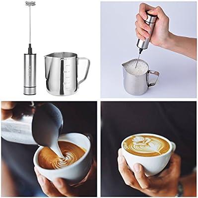 latte macchiato, ELECTRIC Latte Schiumatore Fascette Caffè SCHIUMALATTE ELETTRICO FRUSTA per il caffè
