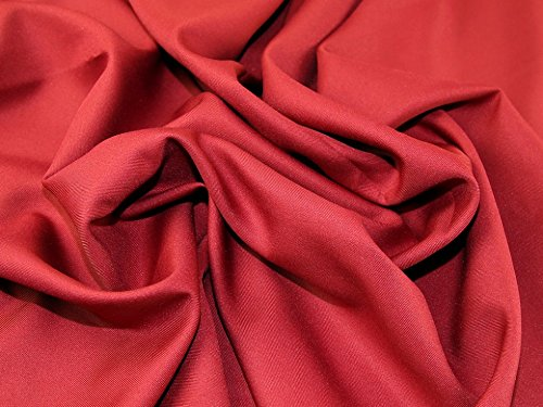Polyester Twill Suiting Dress Fabric Crimson - per metre