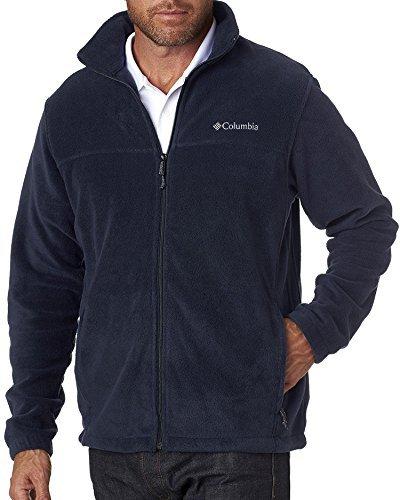 Columbia Men's Steens Mountain Front-Zip Fleece Jacket (Collegiate Navy 01, Large)