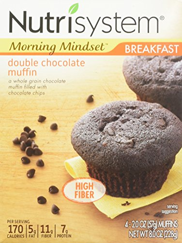 Nutrisystem Breakfast Double Chocolate Muffin, 4 Little Muffins (Pack of 2)