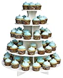 The Smart Baker 5 Tier Round Cupcake Stand PRO- Holds 90+ Cupcakes As Seen on Shark Tank Professional Cupcake Tower