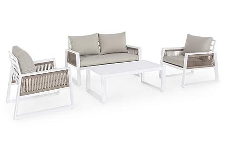 BIZZOTTO Salon de Jardin pour extérieur Captiva en Aluminium ...