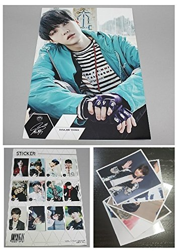 BTS SUGA - 12 posters, 5 fotos, 1 sticker