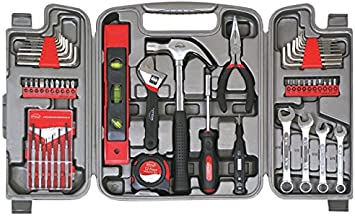 Apollo 53 Piece Household Tool Kit Tool Box Pink Standard Worldwide Durable
