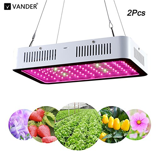 2Pcs LED Grow Light 600W Full Spectrum Indoor Grow Lights For Medicinal Plants Veg&Flower in Greenhouse Tent Plant(Actual Power Consumption 100W) by VANDER LIFE