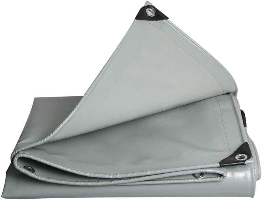 Lixingmingqi 屋外テントターポリンパッド防雨防水物流トラック建物防塵防風pvcナイフ掻き布 グレー 6×6m