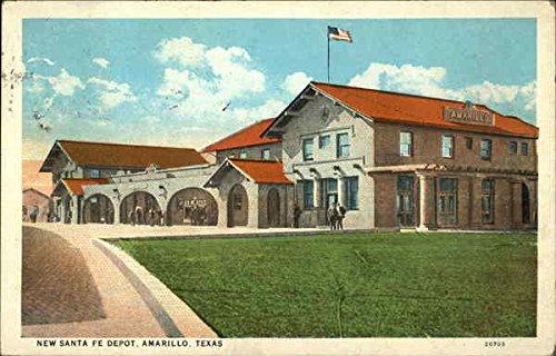 New Santa Fe Depot Amarillo, Texas Original Vintage Postcard ()
