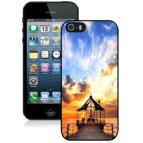 Coque,Fashion Coque iphone 5S Deck At Dusk Noir Screen Cover Case Cover Fashion and Hot Sale Design
