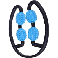 Ring Clamp Leg Massager Fitness Foam Shaft Ring 4 Wheels Muscle Relaxation Wheel Calf Massage Roller for Home Yoga…
