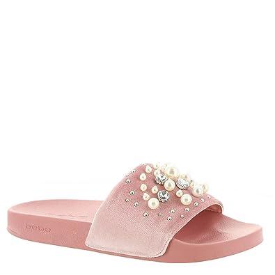 971654759 bebe Womens Fenix Open Toe Casual Slide Sandals