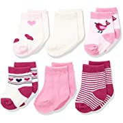 Rene Rofe Baby Baby 6 Pair of Socks on Header Card, Blue Lion, 0-9 Months