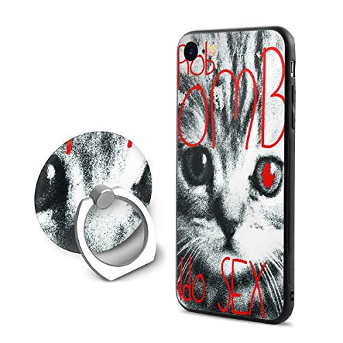 (Robert R Castleberry Rob Zombie Mondo Sex Head Custom Phone Case iPhone 7/8 Mobile Phone Shell Ring Bracket,Suitable for 4.7 Inches )