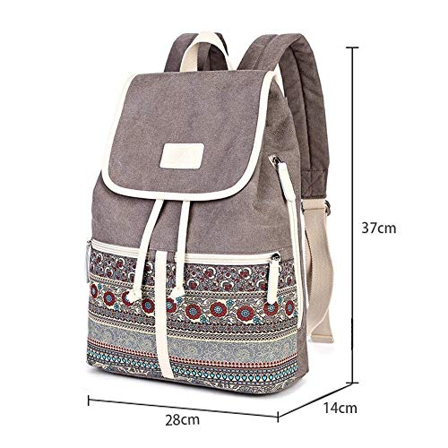 School Men Ladies ZHANGQIAN Work School Bookbag Womens Backpacks Womens Girls Travel Vintage For Backpacks Bags Girls Casual Ladies Canvas qO1qU7