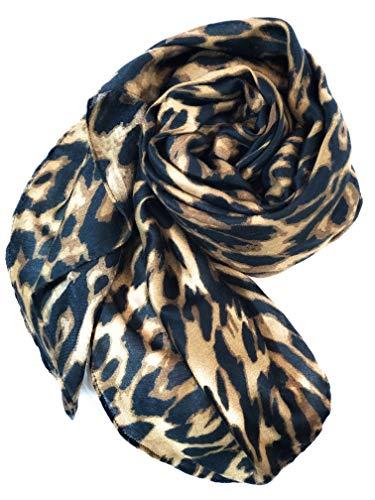 Bellaselah Womens Leopard Print Scarf Soft Wrinkle-Free 70