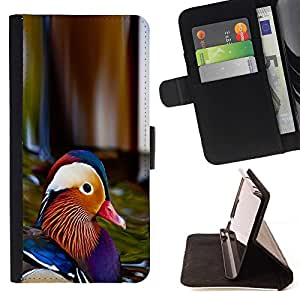 Momo Phone Case / Flip Funda de Cuero Case Cover - Colorido Pato;;;;;;;; - HTC Desire 820