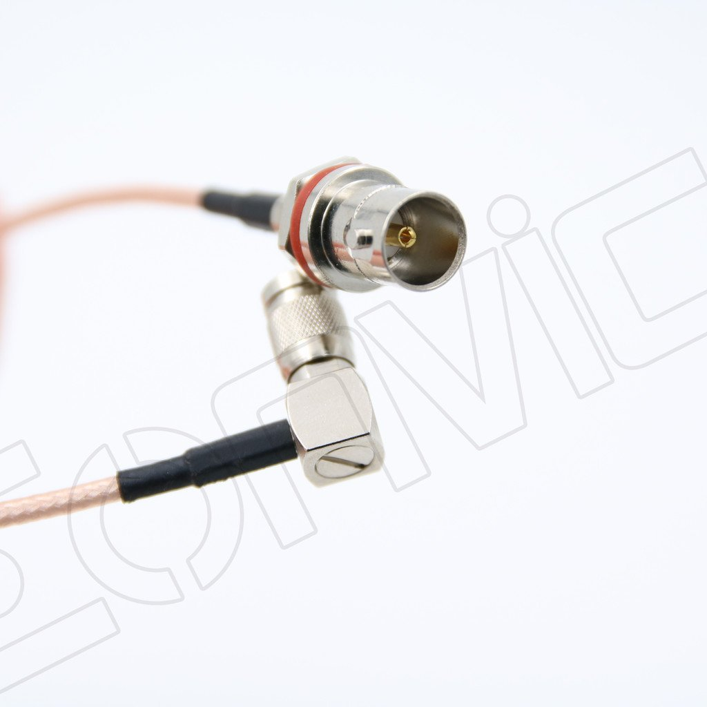 Amazon.com: Eonvic BNC female bulkhead to Right angle 1.0/2.3 DIN male RG179 SDI cable jumper pigtail 20cm: Home Audio & Theater