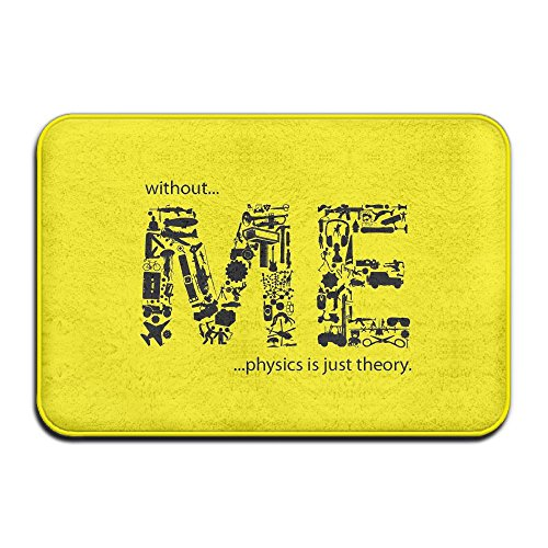 Kui Ju Non-Slip Doormat Entrance Rug Fade Resistant Floor Mats Me Letters Design Shoes Scraper 23.6x15.7x0.39Inch -