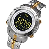 NEW MOSE Man Luxury Stainless Steel Smart Sports Running Watch (silver)