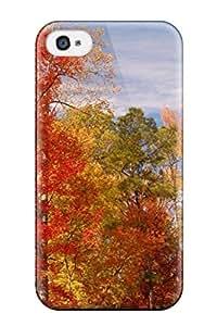 Premium Tpu Best Autumn Tree Cover Skin For Iphone 4/4s