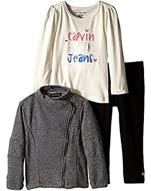 Baby Girls' Gray Jacket with Tee and Pants