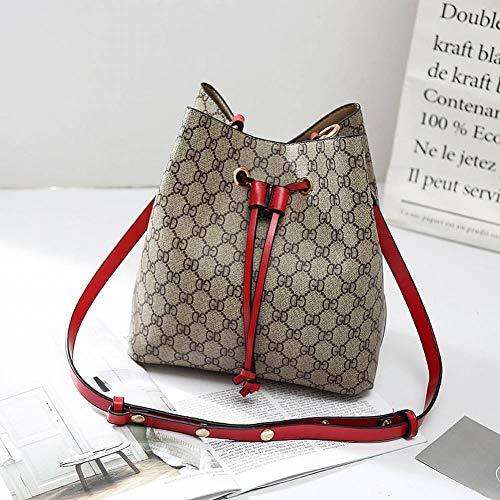 Borsa multi le diagonale femminile moda tote a creativa funzione modello albicocca tracolla stampato borsa secchiello a tracolla donne per retro rosso rP0TFfr