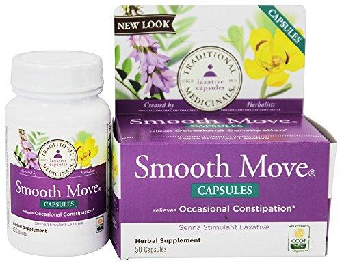 Smooth Move Senna Caps Traditional Medicinals 50 Caps