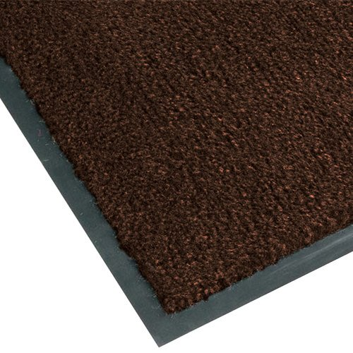 NoTrax T37 Fiber Atlantic Olefin Entrance Carpet Mat, for Wet and Dry Areas, 3' Width x 4' Length x 3/8'' Thickness, Dark Toast