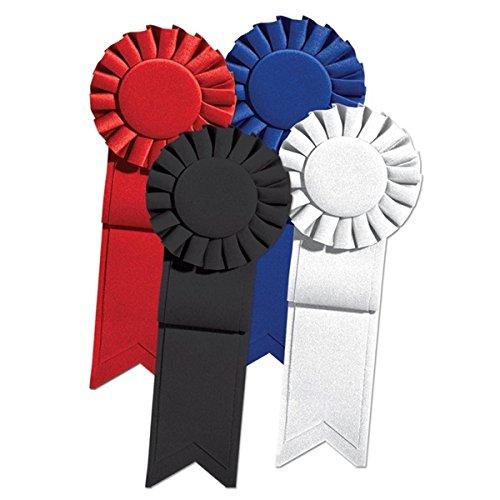 Black Satin Rosette Award Ribbon - 7