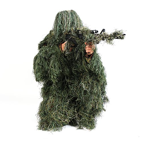 Ghillie Suit, LOOGU Camo Suit Woodland and Forest Design Military Leaf Hunting and Shooting Accessories Tactical Camouflage Clothing Blind for Airsoft, Wildlife Photography Halloween or Party by Ghillie Suits (Image #1)