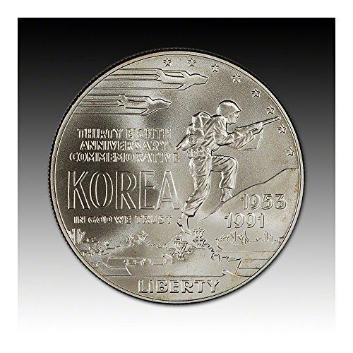 1991 D Us Commemorative Bu Silver Dollar Korean War
