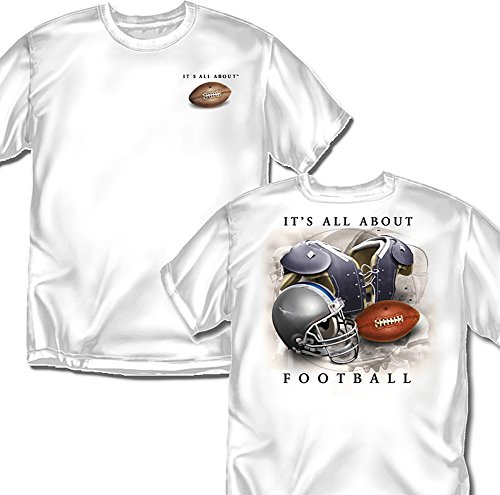 Coed Sportswear Football T-Shirt: It's All About Football, White - Adult Small Coed Sportswear Football