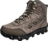Barerun Soft Comfortable an-Slip Rubber Sole Snow Boot for Men Brown 11 D(M) US