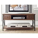 Safavieh American Homes Collection Felicia Dark Teak Media Console For Sale