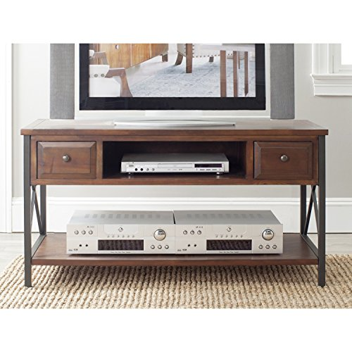 Safavieh American Homes Collection Felicia Dark Teak Media Console