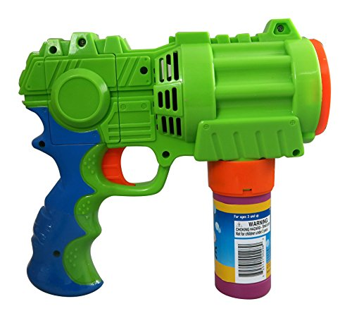 Bubble Gun, Extreme Bubble Blowing Blaster, Large, Motorized, Rainbow Bubbles
