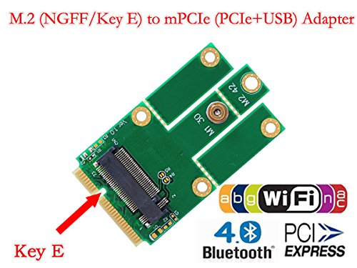 HLT M.2 (NGFF) to mPCIe (PCIe+USB) Adapter by HLT