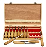 12-PC Professional Carving Chisel Tool Set with American Ash Wood Handle