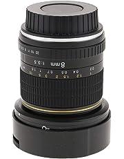 Fenteer Lente De Ojo De Pez De 8 Mm F3.5 Lente Longitud Focal Fija Ultra Gran Angular para Canon T7i T6s T6i T5i T4i T3i T6 SL1 SL2