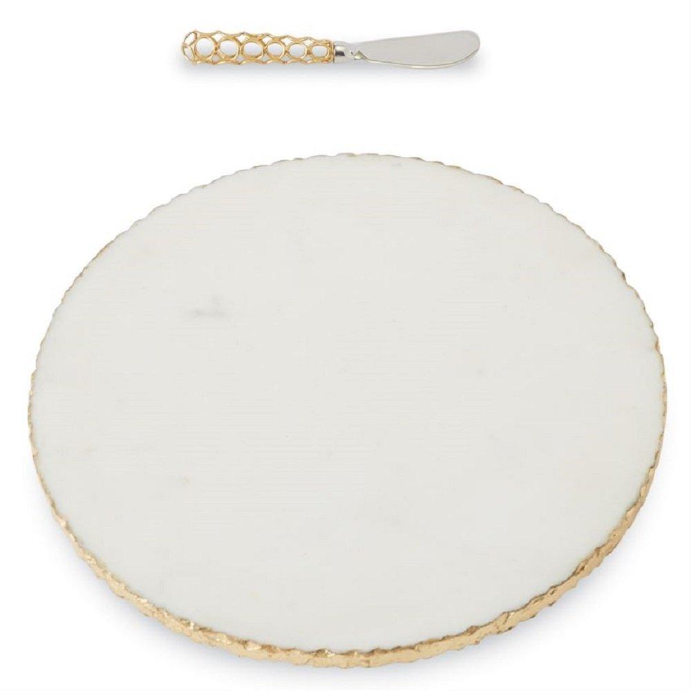 Gold Edge Marble Board Set, 12'' Diameter.