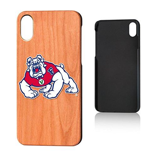 Keyscaper NCAA Fresno State Bulldogs Unisex Apple iPhone Cherry Casecherry Case, Wood, iPhone x by Keyscaper