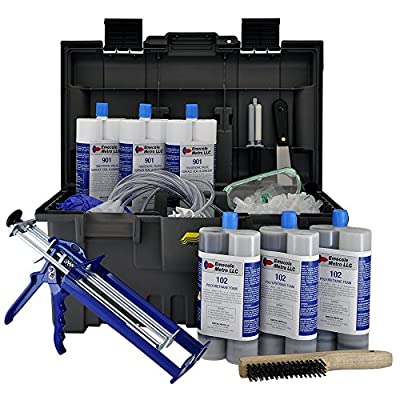 DIY Leaking Basement Wall Crack Repair Kit (30 ft.) - Repair Poured Concrete Foundation Wall Cracks