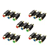 Cable Matters 5-Pack, Gold Plated 3-RCA/RGB Coupler