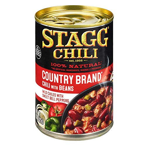 Stagg Country Brand Chili with Beans, 15 Ounce (Pack of 6) (Chili)
