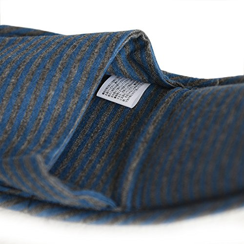 Travel Slippers, HONOLULU CAT Cotton Soft Sole Foldable Travel Slippers with Pouch (Blue)